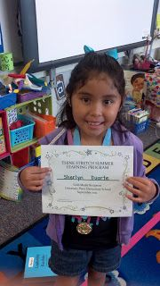 Ms. Norred's 1st Grade Smarties: Think Stretch Gold Medalist