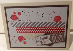 I needed a quick thank you card and thanks to my fabulous friend and demonstrator extraordinaire Cindy Russell I was able to CASE this card.  You are the best!