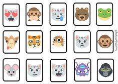 Emocje w Zoo - MEMORY do pobrania + 3 wersje gry - Emocje Dziecka Playing Cards, Printables, Memories, Games, Zoo, Plays, Playing Card Games, Gaming, Toys