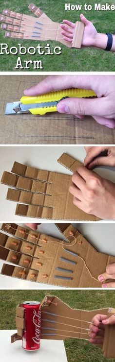 How to Make a Robotic Arm at Home out of Cardboard Inexpensive Christmas Gifts for Kids to Make DIY Christmas Gifts for Boys on a Budget Diy Christmas Gifts For Kids, Inexpensive Christmas Gifts, Diy Gifts For Kids, Diy For Kids, Craft Gifts, Easy Gifts, Christmas Projects, Gifts For Children, Christmas Ideas