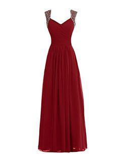 Tidetell V-neck Bridesmaid Chiffon Prom Dresses Long Evening Gowns Burgundy Size 2 Tidetell http://www.amazon.com/dp/B00PV982I2/ref=cm_sw_r_pi_dp_wJvUub0ZP51FV