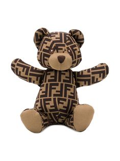 Shop Fendi Kids' Zucca Pattern Teddy Bear In 棕色 from stores. Brown cotton blend Zucca pattern teddy bear from Fendi Kids featuring an all over logo print and embroidered details. Luxury Baby Clothes, Cute Baby Clothes, Fendi, Christmas Teddy Bear, Gucci Kids, Kids Icon, Cute Outfits For Kids, Girls Accessories, Child Love