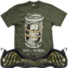 33ec4cd2acc0 Legion Green Foamposites Sneaker Tee Shirt to match made by MDM Clothing.  Shirt is made