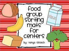 This product is a great supplement to any healthy eating or food pyramid unit! The activity helps younger students identify which food belongs in which food group. The Food Group Sorting Mats can be used in small centers or as an individual activity.