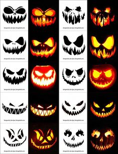 Today we are sharing Free Printable Halloween Pumpkin Carving Stencils, Patterns, Designs, Faces & Ideas Halloween Pumpkin Carving Stencils, Halloween Pumpkin Designs, Scary Halloween Pumpkins, Amazing Pumpkin Carving, Pumpkin Carving Templates, Halloween Diy, Halloween Printable, Halloween Labels, Halloween Design