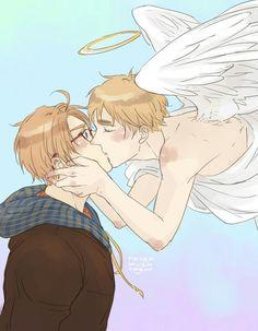 Hetalia UsUk. Angel's Kiss