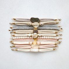 Kathryn Blackmore / Bracelet samples with pyrite, lemon quartz, citrine and sunstone Boho Jewelry, Jewelry Bracelets, Jewelry Accessories, Fashion Accessories, Handmade Jewelry, Fashion Jewelry, Jewelry Design, Gemstone Bracelets, Candy Bracelet