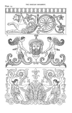 Speltz, Alexander / Styles of ornament: exhibited in designs, and arranged in historical order, with descriptive text. ([1906])  The Grecian ornament