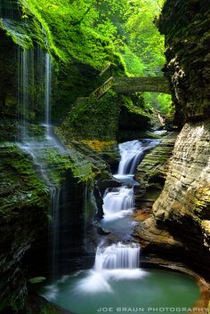 Riainbow Falls, Watkins Glen. The Finger Lakes region of upstate New York is a beautiful area of glacier-carved lakes, gorges, and glens. While the region remains just under the national tourism radar, this is a wonderful area to hike and sightsee. From the famous state parks like Watkins Glen and Letchworth State Park to all of the gorges in the greater Ithaca area, many beautiful waterfalls are waiting to be seen!