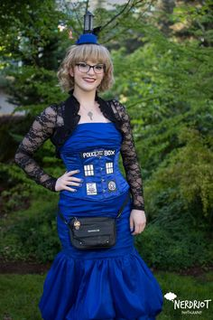 My tardis cosplay for ECCC 2016