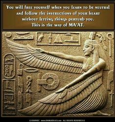 [ it has a quote on the picture.Lear more about Ma'at Egyptian Mythology, Egyptian Goddess, Egyptian Art, Ancient Aliens, Ancient Egypt, Ancient History, European History, Ancient Artifacts, Ancient Greece