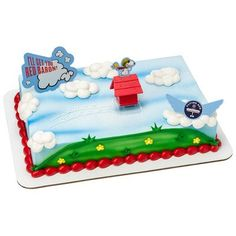 Amazon.com: The Peanuts Movie Flying Ace DecoSet Cake Decoration Topper: Toys & Games