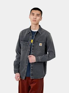 Carhartt Wip, Work Jackets, Military Jacket, Bomber Jacket, Denim, Long Sleeve, Label, Shirts, Pockets