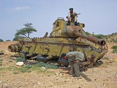 File:Ruined tank in Hargeisa, Somaliland. Tank Armor, Rust In Peace, Ana Ivanovic, Abandoned Cars, Abandoned Vehicles, Military Equipment, D Day, Armored Vehicles, Heavy Equipment
