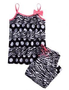 Zebra Dot Capri Pajama Set