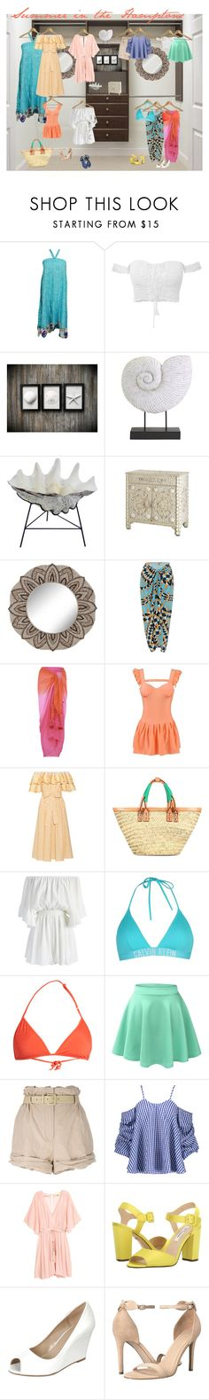 """The closet series...summer in the Hamptons"" by kristinsfashion ❤ liked on Polyvore featuring Martha Stewart, IMAX Corporation, Universal Lighting and Decor, Lenny, Monsoon, Gül Hürgel, Balenciaga, Chicwish, Calvin Klein and Bower"