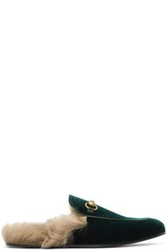 f85592f90ae Gucci - Green Velvet Princetown Slippers