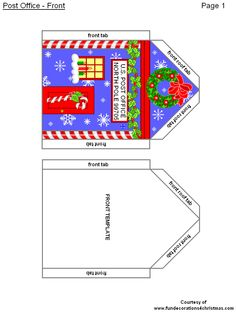 FREE Printabe Christmas 3-D Crafts - Post Office