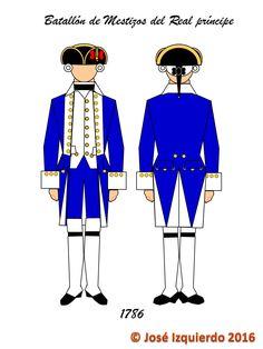 Batallón de Infantería de mestizos del Real Príncipe,  1780