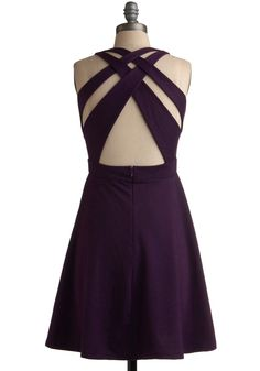 I adore clothes with unique backs, and this color is lovely! Modcloth.