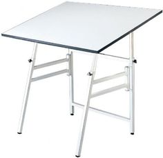 "Alvin XB-4 Spacesaver Base for Model XII Table Tops, White by Alvin. $151.86. Portable, versatile, and so durable that it carries a lifetime guarantee. The Professional offers these outstanding features: |Angle adjustment from horizontal (0 deg) to 45 deg |Height adjusts from 29"" to 45"" in the horizontal position 