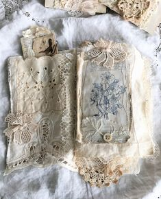 Excited to share the latest addition to my #etsy shop: Vintage Linen and Lace Journal, Heirloom Journal