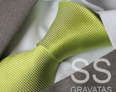 Gravata Verde Limão - C107
