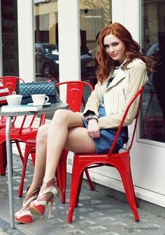 Karen Gillan's legs.