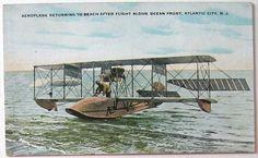 Vintage airplane at Atlantic City. No message.