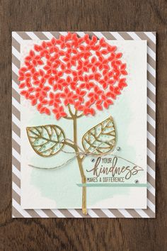 This gorgeous die cut flower features stamps and thinlets from the Thoughtful Branches bundle. #stampinup #thoughtfulbranches