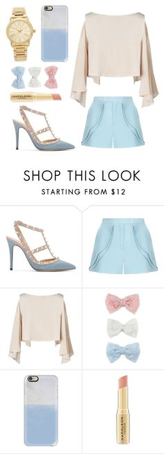 """C L A S S I C "" by alwaysyourself ❤ liked on Polyvore featuring mode, Valentino, Elie Saab, Decree, Casetify, Napoleon Perdis, Michael Kors, gold, Blue et case"