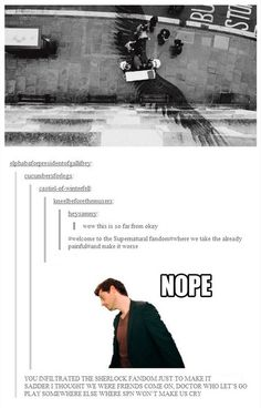 Come on Doctor Who, let's go play somewhere else where Supernatural won't make us cry!