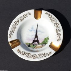 #collectibles Limoges ashtray PARIS France Gold Trim Ceramic porcelain withing our EBAY store at  http://stores.ebay.com/esquirestore