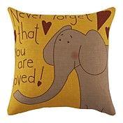 """18 """"Elephant Imprimer toile de coton coussin ... – CAD $ 23.81"""
