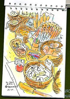 「手帳スケッチ」 - KIMIKOのカラフルスケッチ日記 blog Colorful Sketch 関本紀美子
