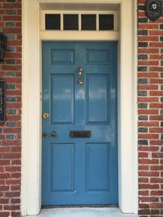 Bright blue door Philadelphia & South Street Area Philadelphia PA double wood doors urban ... pezcame.com