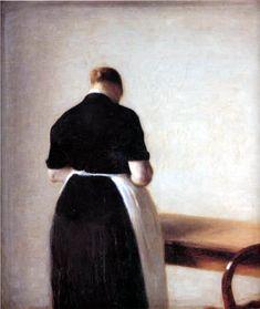POUL WEBB ART BLOG: Vilhelm Hammershoi 1888