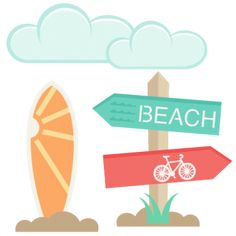 """NEW RELEASE!  *** Beach Set  *** Right now this is in the """"NEW SVGs"""" section at…"""