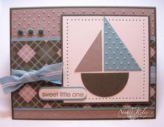 baby boy :) half circle and half rectangle = sailboat!