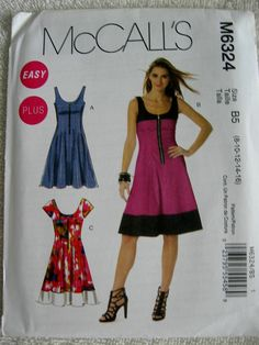 McCalls Misses Womens Fitted Zip Down Dress Pattern by Vntgfindz