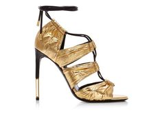 METALLIC GOLD EEL STARDUST CAGE SANDAL - TOM FORD Cruise 2016.   (=)