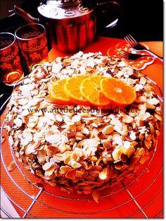 Gâteau à la confiture & amandes effilées