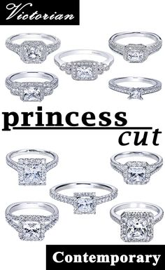 Which princess cut engagement ring would you choose? Discover more styles and customize your own at Gabriel & Co.