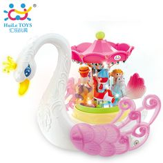Baby Toys Fantastic Swan Electric Music Toy with Lights Electronic Learning Educational Toys for Children Girls 36m+