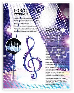 School concert event program templates music education therapy pinterest programming and for Free church flyer templates microsoft word