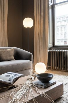 Highlights from 3 days of design Copenhagen. Lotta Agaton Interiors for New Works. Nordic Living Room, Scandinavian Living, Living Room Decor, Living Rooms, Easy Home Decor, Cheap Home Decor, Boutique Hotel Room, Scandinavian Interior Design, Nordic Design