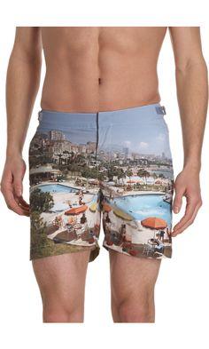 Coastal trunks for him!