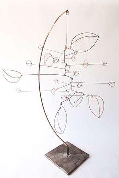 Shoreline IV by Jade Oakley artwork image Mobile Sculpture, Wire Art Sculpture, Sculptures Céramiques, Abstract Sculpture, Mobile Art, Hanging Mobile, Art Fil, Kinetic Art, 3d Studio