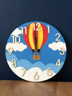 Items similar to Hand painted wall clock on Etsy Wall Clock Painting, Clock Art, Diy Clock, Clock Decor, Diy Painting, Wall Decor, Clock Ideas, Tick Tock Clock, Cool Clocks