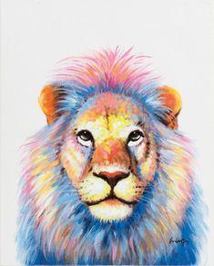 Schilderij leeuw 40x50